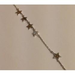 bracelet argent étoile