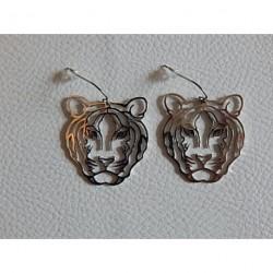 Boucles d'oreilles acier ZAG  tigre
