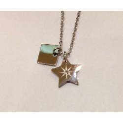Collier ZAG étoile et strass