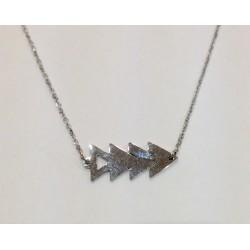 Collier Zag acier quadruple triangle