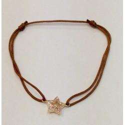 Bracelet étoile plaqué or et zirconium