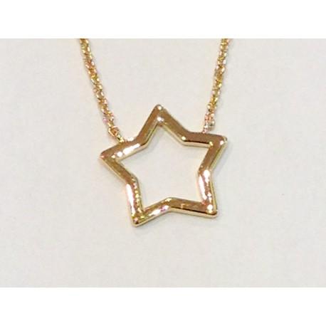 collier plaqué or étoile