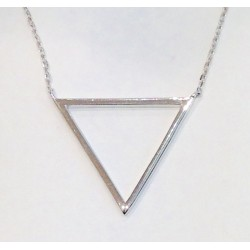 Collier plaqué or triangle
