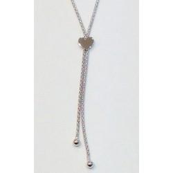 Collier coeur  et chaînettes