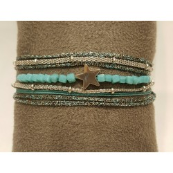 Bracelet ZAG multi-rangs étoile
