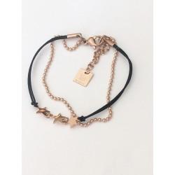 bracelet ZAG 2 rangs étoiles