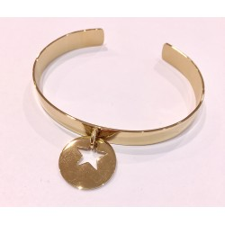 Bracelet ZAG acier rigide breloque étoile