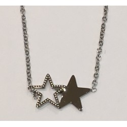 Collier double étoile