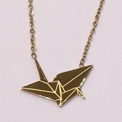 Collier Zag cocotte origami