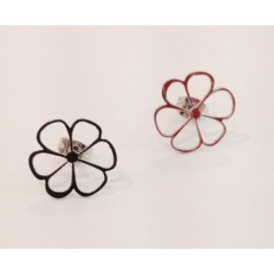 Boucle d'oreilles fleur