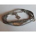 Bracelet multirangs ZAG acier Plume