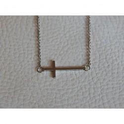 Collier acier ZAG croix