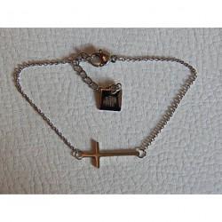 Bracelet acier ZAG croix