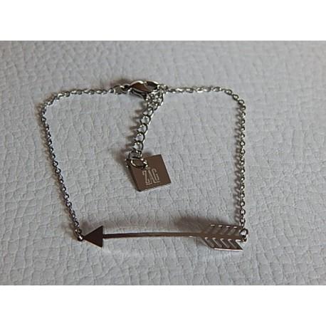 Bracelet acier ZAG flèche